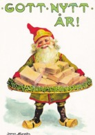 Brownie - Gnome - Elf Holding A Tray Full Of Money - Bank Notes - Jenny Nyström - Christmas