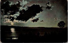 Vermont Burlington Moonlight Scene 1910 - Burlington