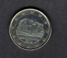 EURO / ANDORRE 2016 /  1 Pièce De 1 Euro De Circulation  / - Andorra