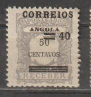 ANGOLA CE AFINSA 254 - NOVO COM CHARNEIRA - SOBRECARGA DESLOCADA - Angola