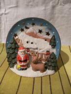 Decoration De Noel Ceramique A Poser - Scene De Noel Pere Noel - Kerstversiering