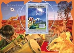 Guinea, 2011. [gu11718] Solar Eclipse 2012 (s\s+block) - Astronomy