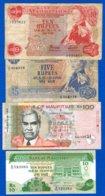 Mauritius  4  Billets - Maurice