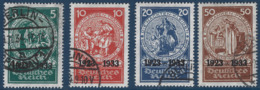 Allemagne N°479 à 482 Oblitérés Timbres Du Bloc N°2 Superbes Et RR - Deutschland