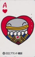 Télécarte Japon / 110-011 - Carte à Jouer Série Plant - As De Coeur - Playing Card Japan Phonecard - Spiel Karte - 77 - Giochi