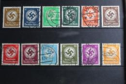 Deutsches Reich Dienstmarke 132-143 Gestempelt #RU476 - Dienstpost