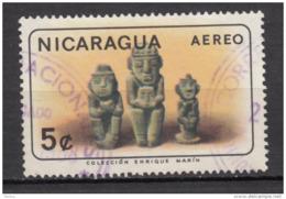 ##25, Nicaragua, Antiquité, Antiquity, Archéologie, Archaeology, Statue, Indiens D'amérique, Amérindien, Airmail - Nicaragua
