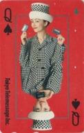 Télécarte Japon / 110-011 - Carte à Jouer - DAME DE PIQUE * Telemessage * - Femme Girl Playing Card Japan Phonecard - 82 - Giochi