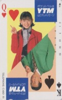 Télécarte Japon / 390-19820 - Carte à Jouer - DAME DE COEUR & ROI DE PIQUE  - Femme Girl Playing Card Japan Phonecard 84 - Giochi
