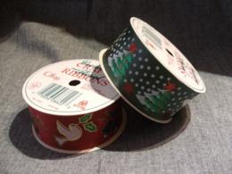 2 Rouleaux Ruban Tissus Imprimés Noel (3,6x2,74 Metres) / Neufs Sans Emballage - Kerstversiering