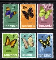 TANZANIA - 1973 BUTTERFLIES HIGH VALUES SET (6V) FINE MNH ** - Mozambique