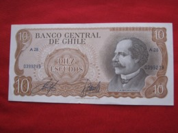 Chile 10  Escudos 119B - Chili