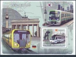 COMORES :  TRAM :  METRO  : SPAIN : KOREA : GERMANY   MNH - Comores (1975-...)