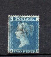 GB Line Engraved  Victoria 2d Blue Plate 9  Good Used - 1840-1901 (Viktoria)