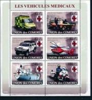 COMORES :  CAR : SHIPS : HELICOPTER : MOTO : TANK : AMBULANCE   MNH - Comoros