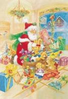 Santa Claus Packing Toys - Teddy Bear - To Christmas Bag - Santa Claus