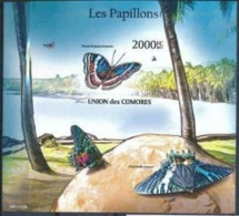COMORES :  BUTTERFLYS   MNH (Imperforated) - Comoros
