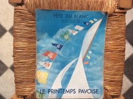 DOCUMENT COMMERCIAL CATALOGUE LE PRINTEMPS PAVOISE  Fête Du Blanc  ANNÉE 1933 - Textile & Clothing