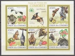 2009Comoro Islands2455-59KLThe Bats / Fruits10,00 € - Bats
