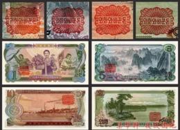 Korea P18c 19c 20c 21c 1978 1 5 10 50won 4pcs UNC - Korea, Noord