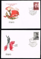 Russia USSR 1985 Communist Party Leader Sverdlov 1986 Kirov 2 FDC First Day Cover - Covers & Documents