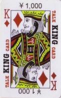 Télécarte Prépayée Japon - Carte à Jouer - ROI - KING Playing Card Japan Prepaid Phonecard - SPIEL KARTE TK - 101 - Giochi