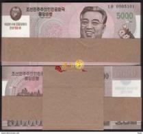 Korea Commemorative 2008 5000won 100pcs UNC - Korea, Noord