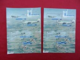 Planche De Timbres Neufs Belgique - Vol à Travers Le Temps - Anciens Avions Belges - 2016 - Foglietti