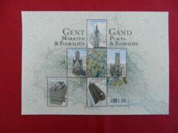 Planche De Timbres Neufs Belgique Gand Places & Floralie - Panes