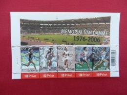 Planche De Timbres Neufs - Belgique - Mémorial Van Damme 1976-2006 - Feuillets