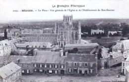 22 - Cotes D Armor -  BEGARD - La Place - Vue Generale De L Eglise Et De L Etablissement Du Bon Sauveur - Francia