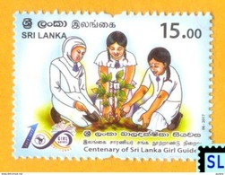 Sri Lanka Stamps 2017, Girl Guides Centenary, Scout, MNH - Sri Lanka (Ceylon) (1948-...)