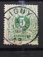 COB N ° 45 Oblitération LIGNY - 1869-1888 Lion Couché