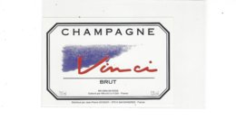 ETIQUETTE CHAMPAGNE VINCI  *****  A   SAISIR **** - Champagne