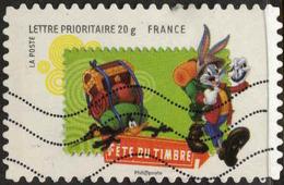 France Poste AA Obl Yv: 270 Fête Du Timbre Bugs Bunny & Daffy Duck (Lign.Ondulées) - France