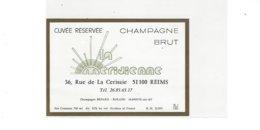 ETIQUETTE CHAMPAGNE LA MERIDIENNE A REIMS      ***** RARE  A   SAISIR **** - Champagne