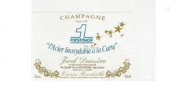ETIQUETTE CHAMPAGNE FIRSTINOX  L ACIER INOXYDABLE A LA CARTE   FLEURY LA RIVIERE ***** RARE  A   SAISIR **** - Champagne