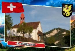 Postcard, REPRODUCTION, Municipalities Of Switzerland, Ennetmoos - Cartes Géographiques