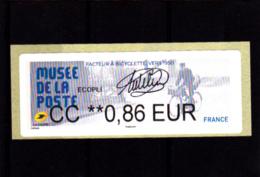 ATM LISA BROTHER, Ecopli CC 0.86 €, Signée  E. Catelin, Musée De La Poste, Facteur à Vélo, Salon Automne 2019 - 2010-... Illustrated Franking Labels