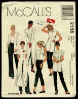 Vintage McCall`s Schnittmuster 2156  -  Shirts In 3 Längen, Ärmeln Und Kragen  -  Size Medium  -  Größe 12-14 - Designermode