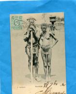 East Africa And Uganda-MOMBASA- Couple-femme Seins Nus-gros Plan-a Voyagé En 1906-édit - Uganda