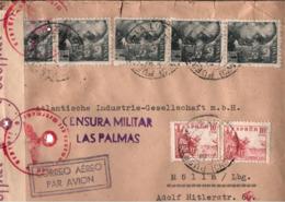 ! 1941 Zensurbrief Puerto De La Luz, Gran Canaria, Censure, Censor, Censura Militar Las Palmas, Mölln, Woermann Linie, - 1931-50 Briefe U. Dokumente
