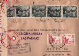 ! 1941 Zensurbrief Puerto De La Luz, Gran Canaria, Censure, Censor, Censura Militar Las Palmas, Mölln, Woermann Linie, - 1931-Aujourd'hui: II. République - ....Juan Carlos I