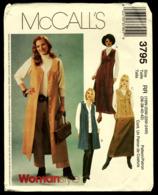 Vintage McCall`s Schnittmuster 3795  -  Damen Pullover, Hosen, Rock  -  Size RR -  Größe 36-42 - Designermode