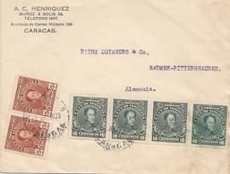Venezuela 1923: Caracas To Barmen-Rittershausen - Venezuela