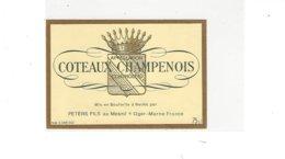 ETIQUETTE COTEAUX CHAMPENOIS  PETERS FILS  AU MESNIL SUR OGER   * RARE  A   SAISIR * - Champagne