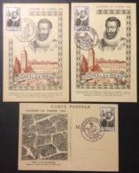 CM084 Journée Du Timbre Fouquet 754 Troyes Le Havre + Vignette Paris 29/6/1946 Lot 3 Carte Maximum - Maximum Cards