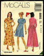 Vintage Mccall`s Schnittmuster 8865  -  Damen Kleid Locker Sitzend  -  Size E -  Größe 14-18 - Designermode