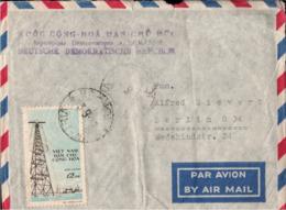 ! Brief Aus Nord Vietnam, Airmal Cover, Hanoi, Absender Botschaft Der DDR - Vietnam