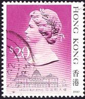 HONG KONG 1990 QEII  $20 Multicoloured SG614 FU - Hong Kong (...-1997)